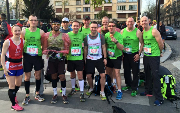 Redway Runners at the Paris Marathon