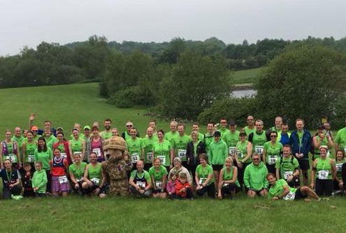 Group shot between 10K and half on Sunday June 2016