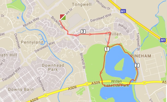 Lake run 3.4 route