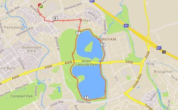 Lake run 4.4 route