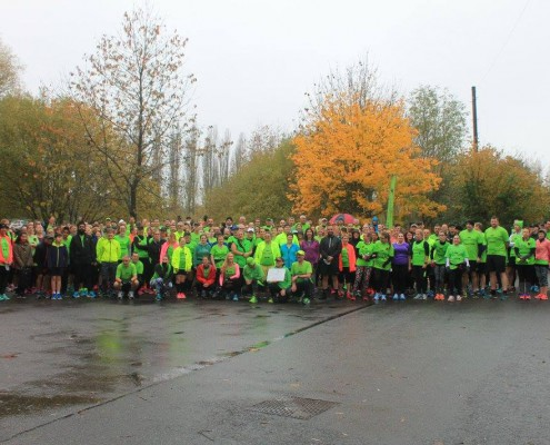 parkrun group shot barriers